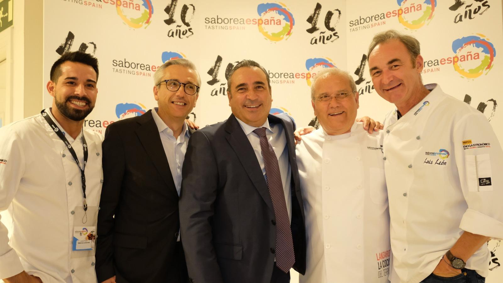 Saborea Lanzarote participa en la gala del X Aniversario de Saborea España celebrada en Madrid