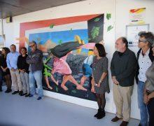"""El Cabildo acude a la presentación del mural """"El Viento"""" de César Manrique realizado por alumnos del CEO Argana"""