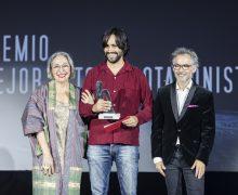 El actor lanzaroteño Roberto Cabrera, premiado nuevamente en el Festival de Cine de Fuentes de Ebro