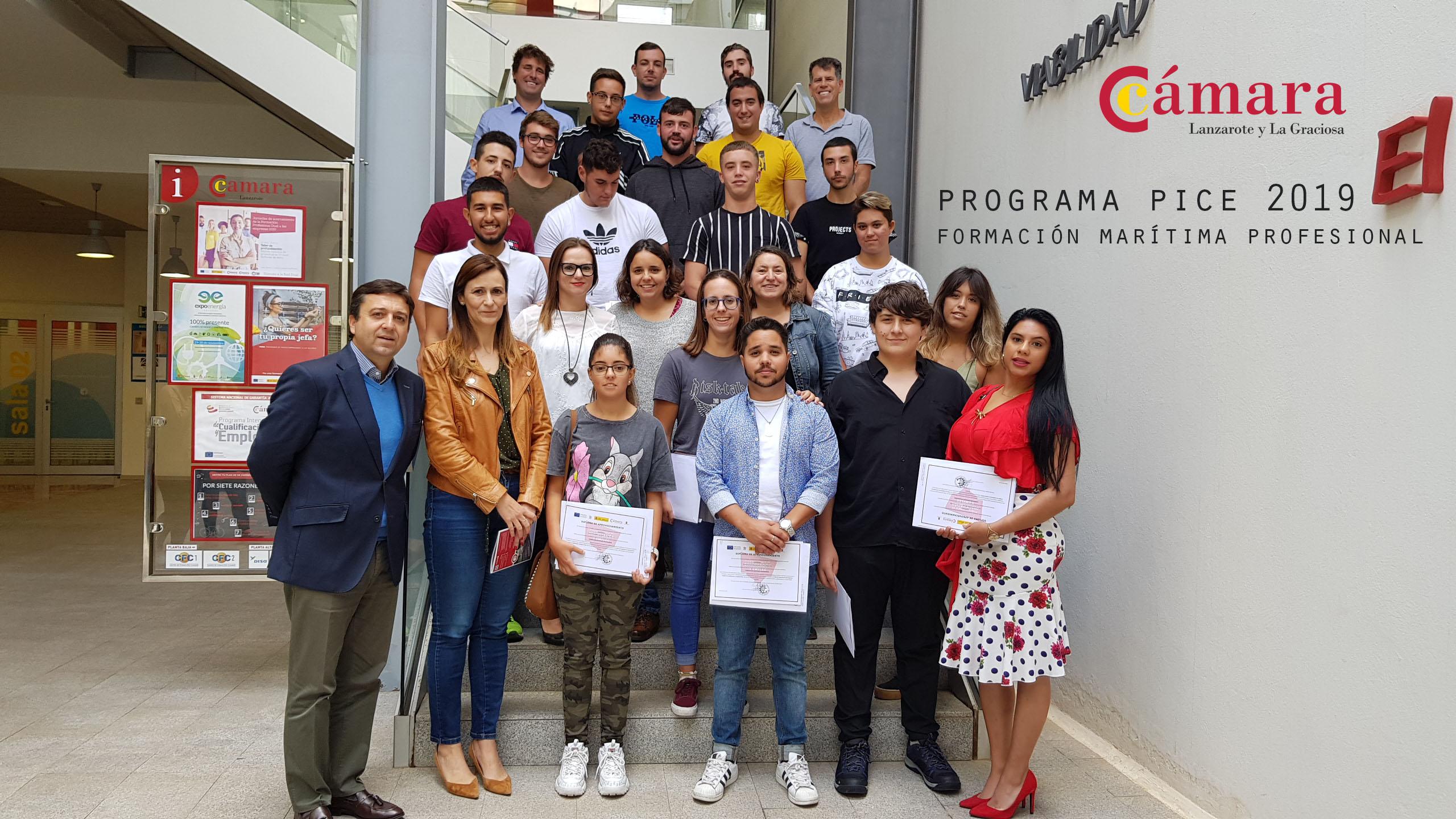 Cámara de Comercio y Cabildo de Lanzarote clausuran la formación marítima profesional para jóvenes