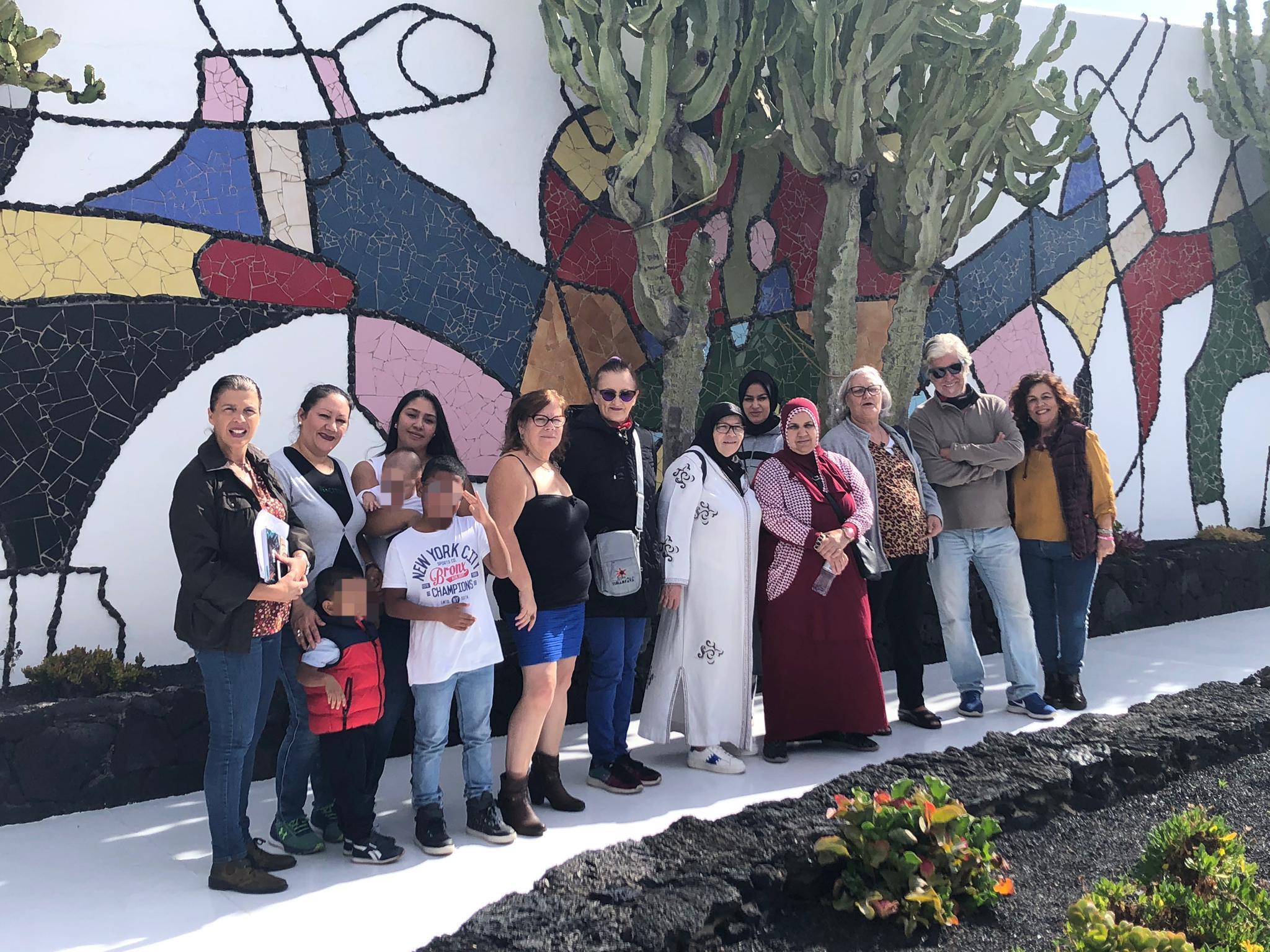 Mararía cierra sus actividades para mujeres migrantes con una visita a la Fundación César Manrique