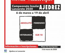 Campeonatos Insulares de Ajedrez 2020 I Memorial César Manrique  EL AJEDREZ DE LANZAROTE BATE RÉCORDS