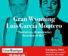 """Gran Wyoming y Luis García Montero conversarán en la FCM sobre """"Narrativas, democracia y derechos civiles"""""""