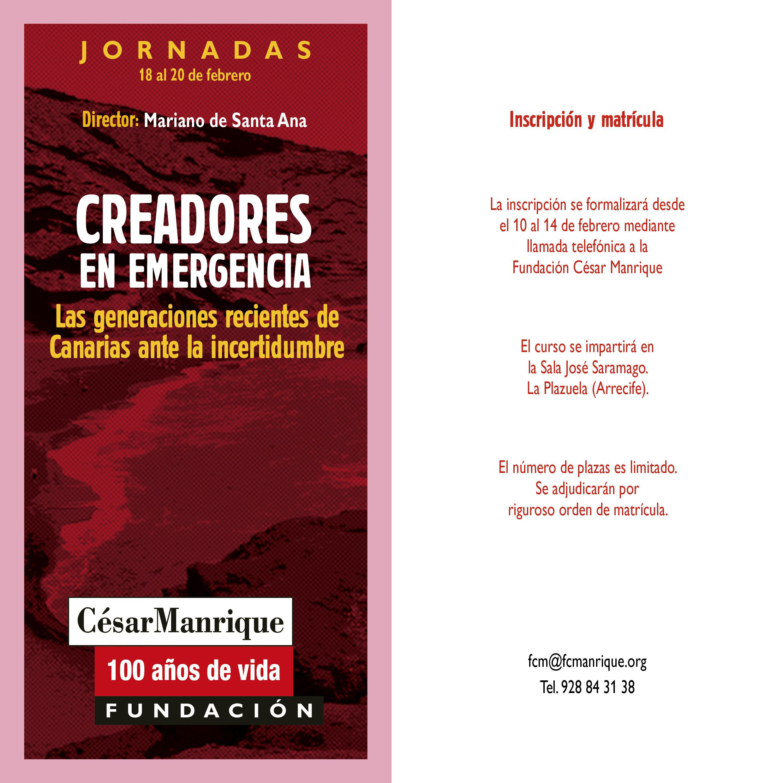 """La FCM organiza """"Creadores en emergencia"""", unas jornadas sobre la incertidumbre y los jóvenes creadores de canarias"""