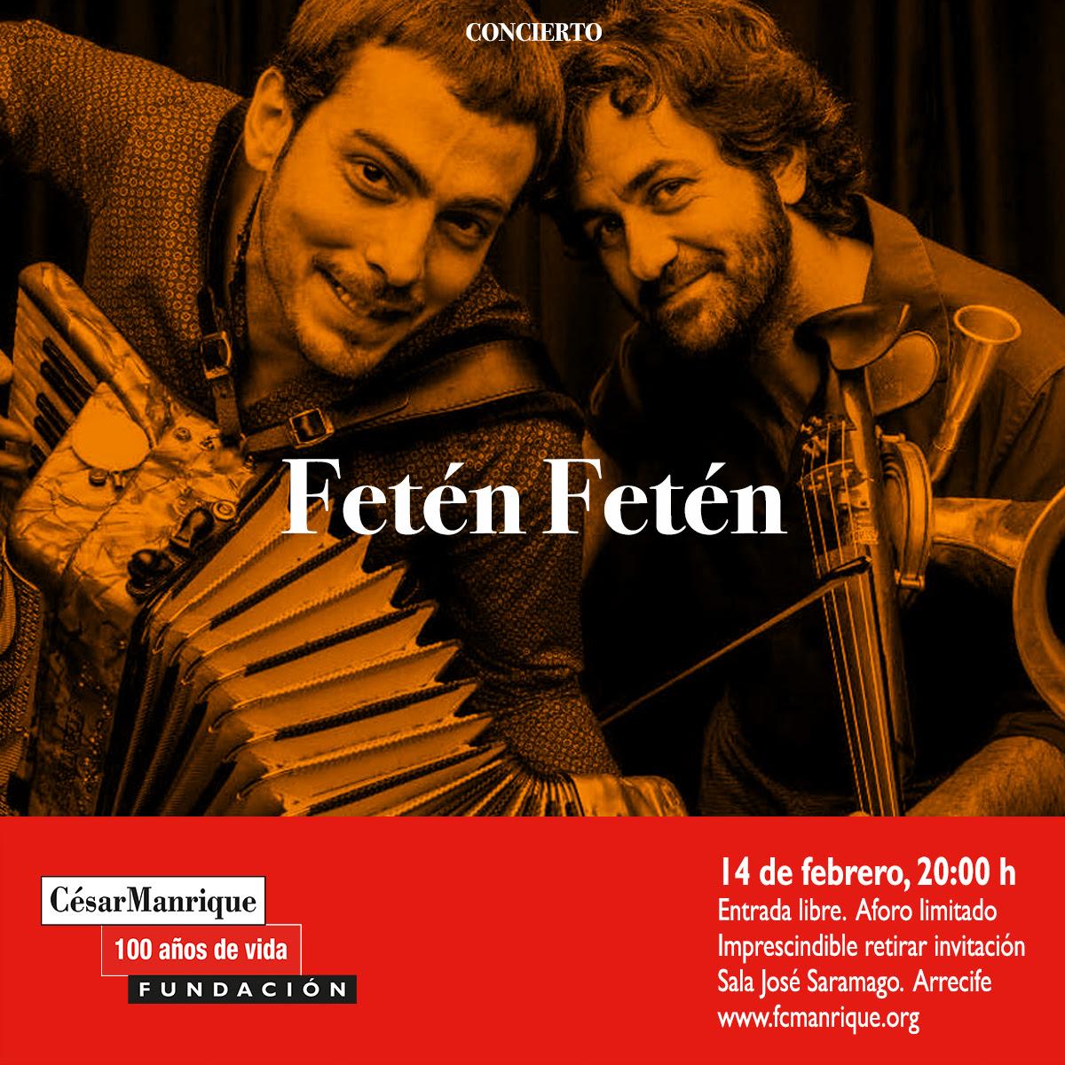 El dúo Fetén Fetén, en concierto en la FCM con motivo del centenario del nacimiento de su fundador