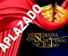 Se aplaza la XIII edición de la Semana Cultural del Teatro de San Bartolomé