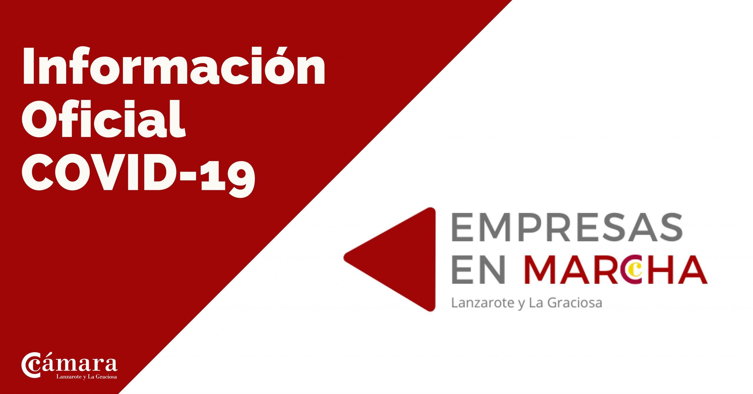 `Empresas en Marcha', una iniciativa de la Cámara de Comercio para sostener la actividad económica en Lanzarote y La Graciosa