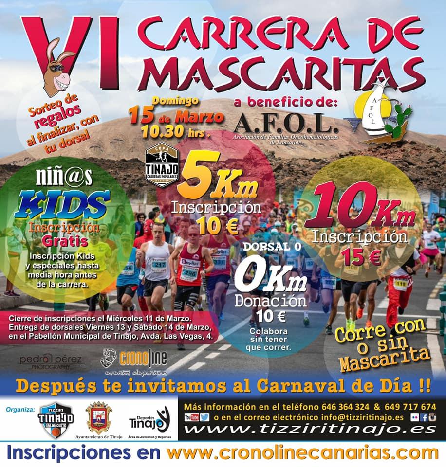 Última oportunidad para inscribirse en la Carrera de Mascaritas de Tinajo