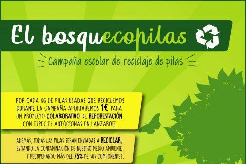 """Campaña de reciclaje de pilas usadas en centros escolares  """"EL BOSQUE ECOPILAS"""""""