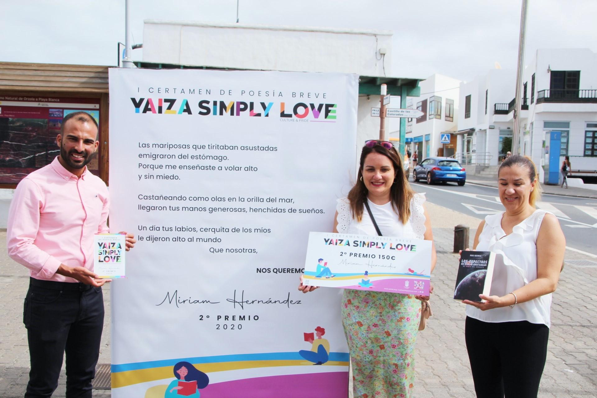 El Yaiza Simply Love premia a las dos ganadoras de su primer Certamen de Poesía Breve