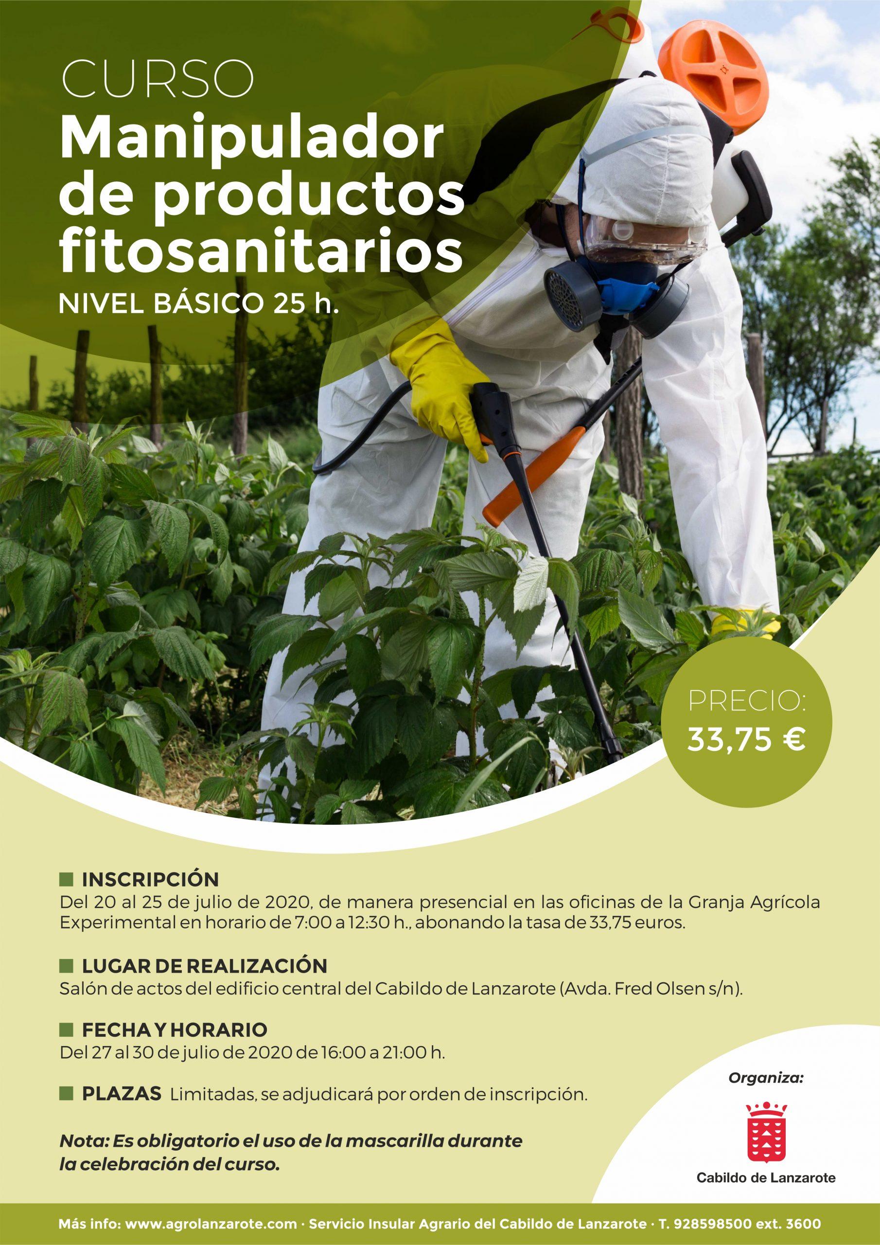 El Cabildo organiza un nuevo curso de manipulador de productos fitosanitarios