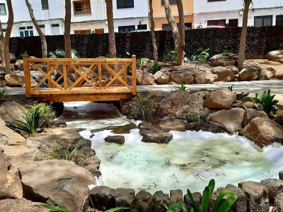 Arrecife  concluye las obras para embellecer el Parque de los Pinos, en Titerroy