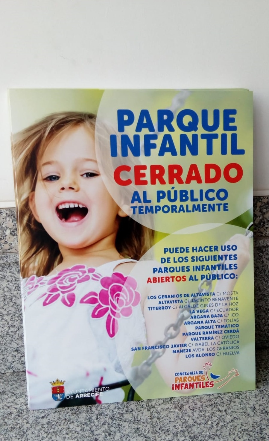 El Ayuntamiento reabre 12 parques infantiles en Arrecife tras completar la desinfección ante el covid 19