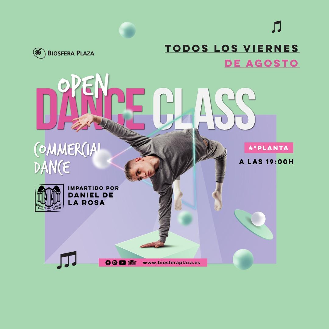 Todos los viernes de agosto Dance Class en el Centro Comercial Biosfera Plaza