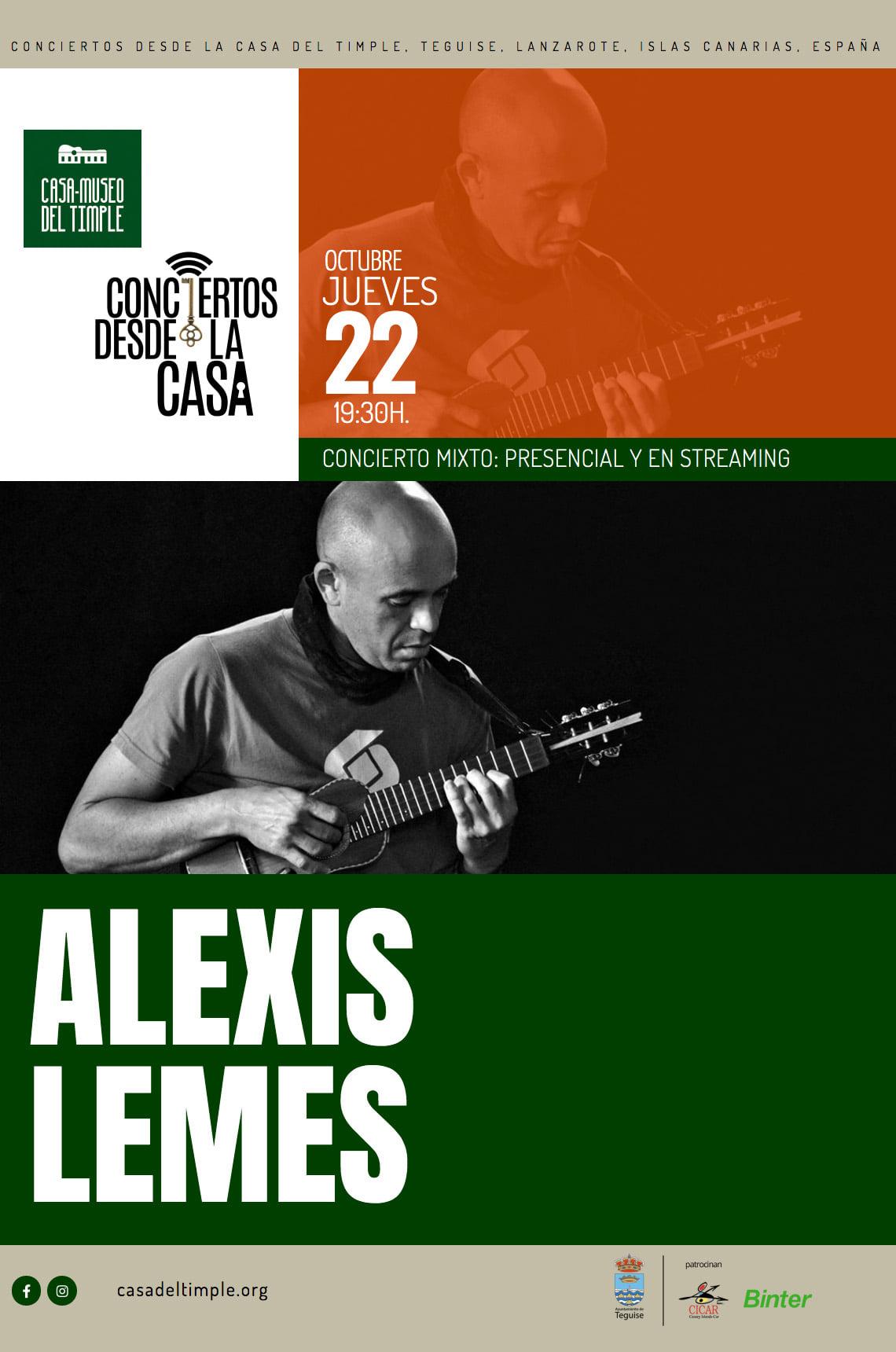 Teguise invita a un nuevo concierto presencial con Alexis Lemes al timple y Javier Infante a la guitarra