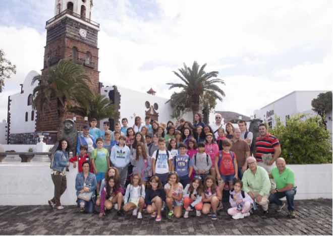 Los alumnos de Badajoz, Toledo y Murcia devuelven la visita al colegio Guenia de Guatiza