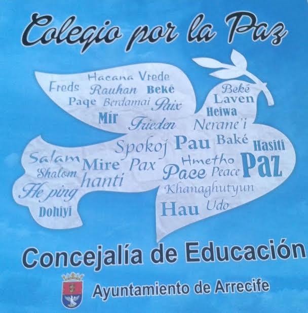 cartel dia paz colegio