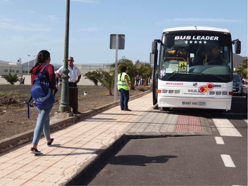 Teguise se hará cargo del servicio de transporte de los alumnos de Bachiller que residen en zonas rurales