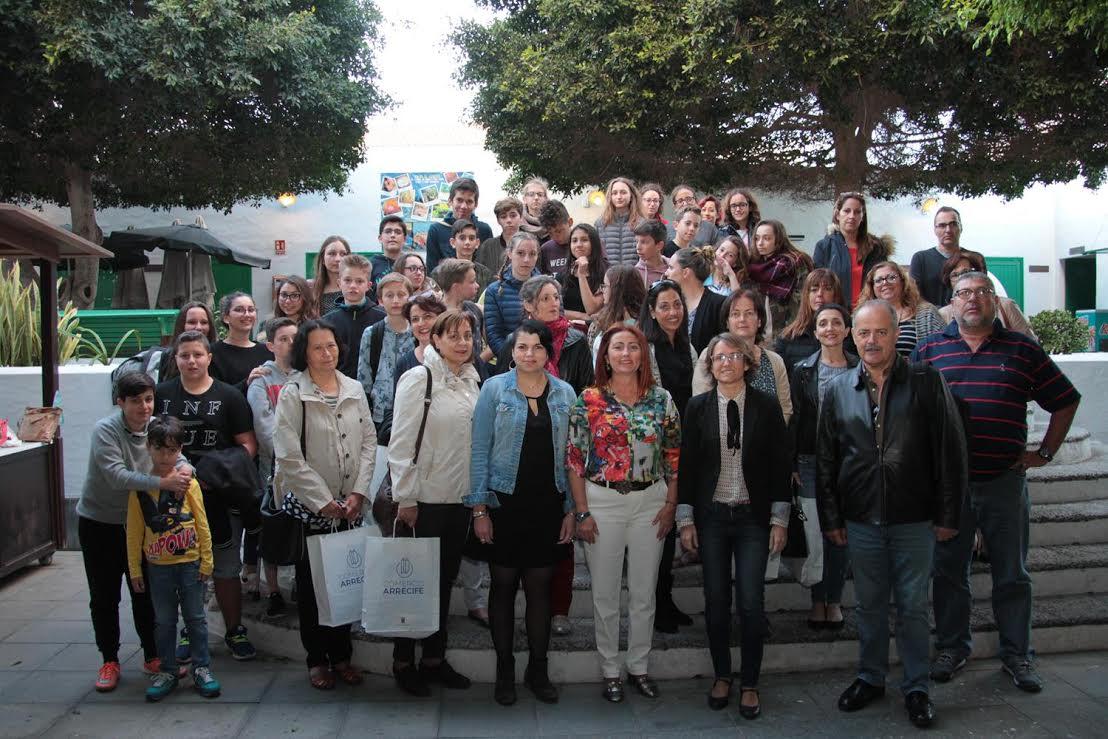 """El Ayuntamiento de Arrecife recibe a los estudiantes franceses participantes en el proyecto europeo Erasmus+ """"Trip & Speak"""""""