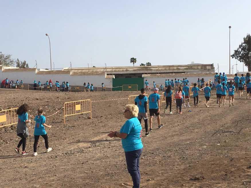 La Comunidad Educativa del centro volvió a correr un año más a beneficio de la ONG 'Save the Children', esta vez, apoyando el programa 'Kilómetros de solidaridad por Etiopía'