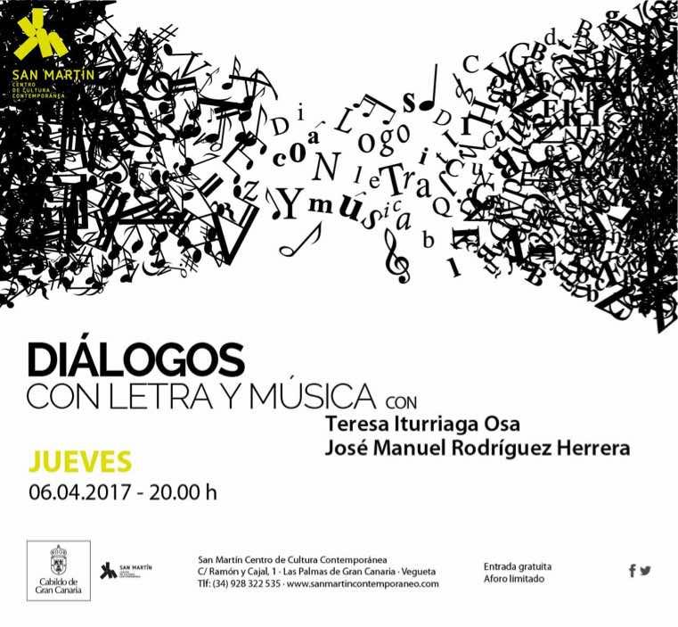 La escritora Teresa Iturriaga y el músico José Manuel Rodríguez protagonizan 'Diálogos con letra y música' en San Martín