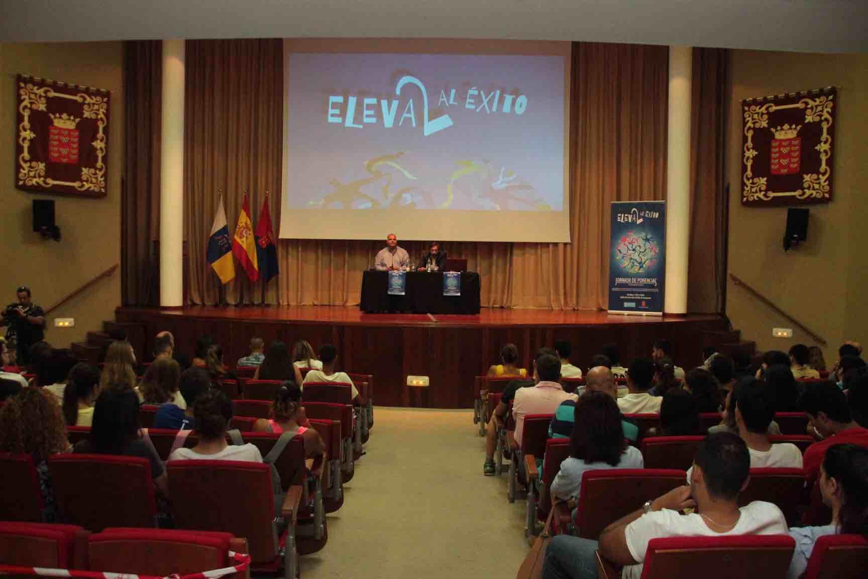 El Cabildo de Lanzarote organizó la jornada 'Eleva2 al éxito' para 300 estudiantes que se están formando y creando su futuro