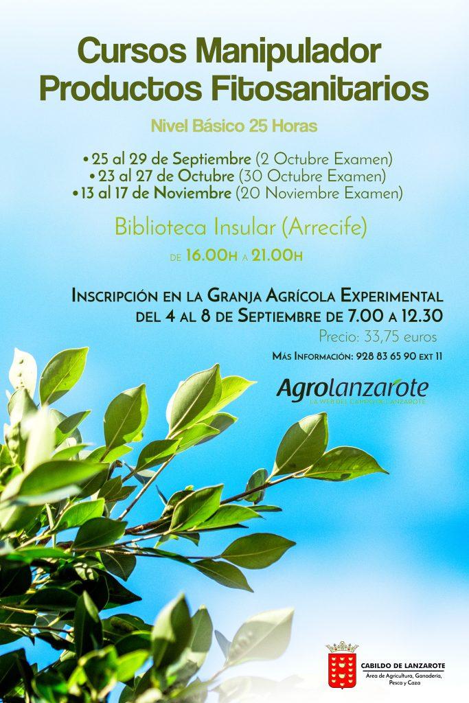 El Cabildo de Lanzarote organiza tres cursos de manipulador de productos fitosanitarios, nivel básico