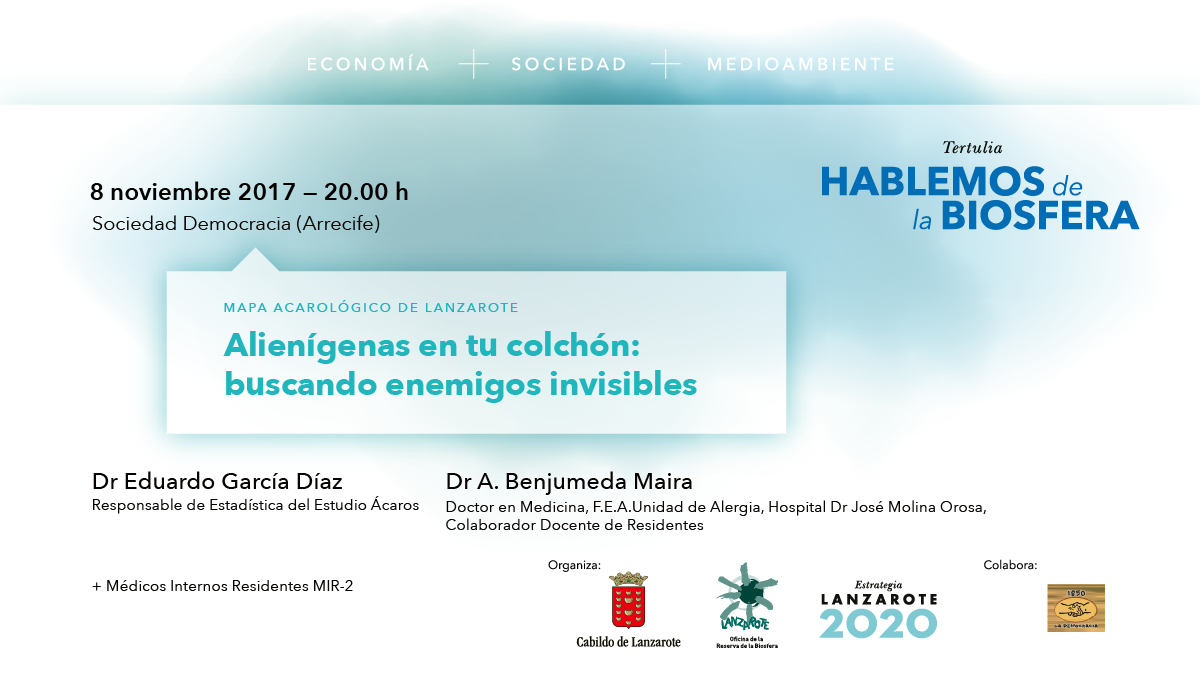 El Cabildo de Lanzarote celebra en noviembre la última charla del año del ciclo de conferencias 'Hablemos de la Biosfera'