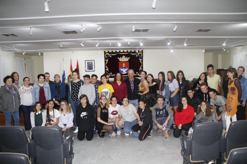 """Arrecife da la bienvenida a los estudiantes franceses del Erasmus """"Trip & Speak"""""""