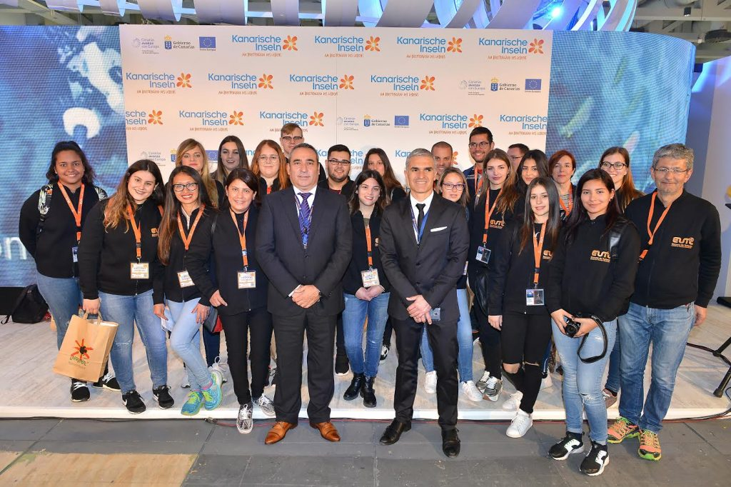 Alumnos de la Escuela Universitaria de Turismo de Lanzarote, un año más presentes en ITB 2018