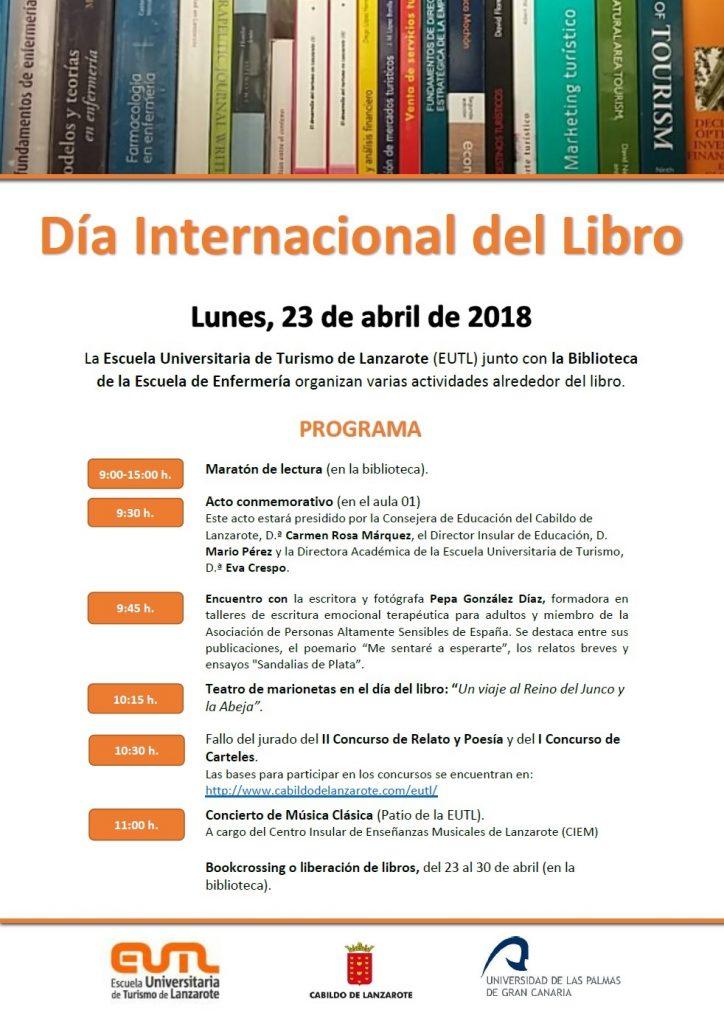La Escuela Universitaria de Turismo de Lanzarote celebra el 'Día Internacional del Libro'