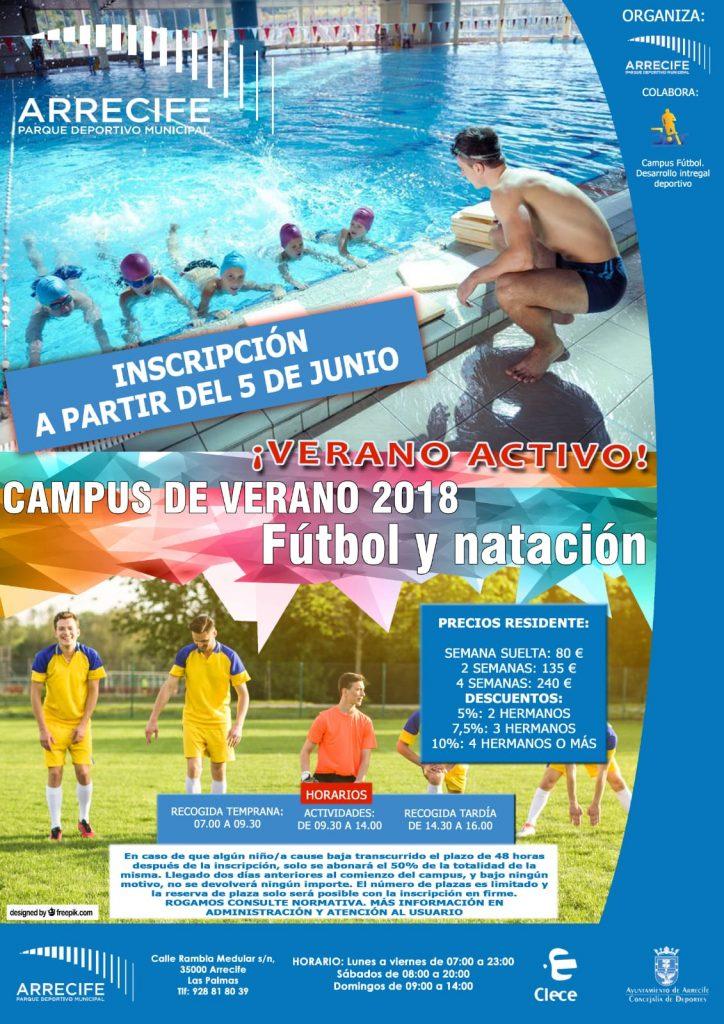 Arrecife abre la inscripción para sus campus veraniegos en el Parque Deportivo Municipal