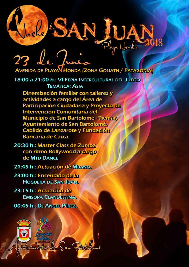 Dinamización y talleres familiares, zumba, conciertos de Mozica Jam Trío, MBand, Emisora Clandestina, dj y hoguera principales actos para festejar la noche de San Juan