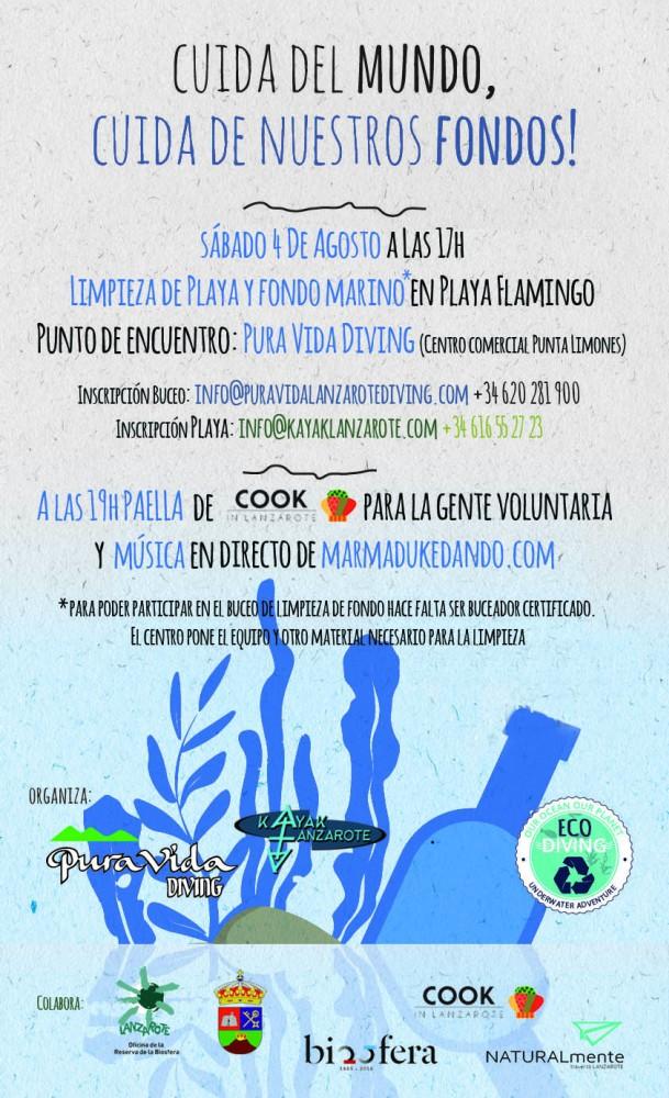 Este sábado, 4 de agosto, nueva jornada de limpieza del litoral sureño con voluntarios y fiesta posterior