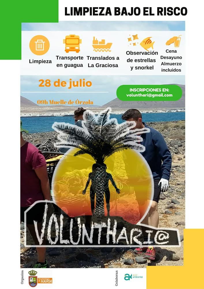 'VoluntHaría' llevará a cabo una campaña de limpieza en Bajo el Risco