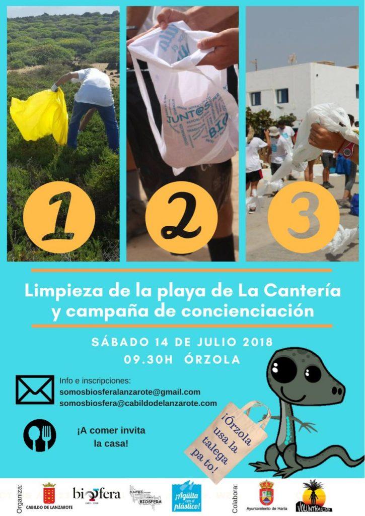 El Voluntariado 'Junt@s Somos Biosfera' sigue luchando contra el plástico con una nueva acción de limpieza y concienciación en Órzola