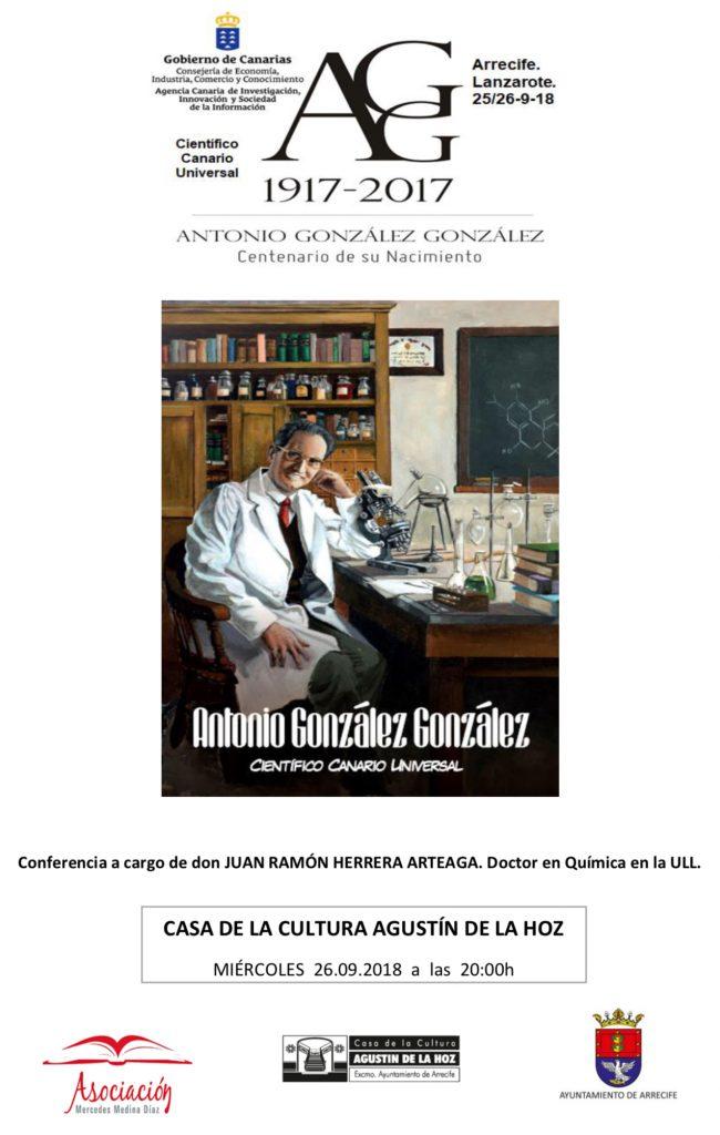 La asociación Mercedes Medina inicia el curso con un reconocimiento al científico Antonio González González