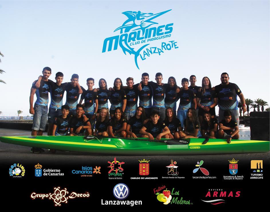 El Club de Piragüismo Marlines de Lanzarote luchará para ganar en el Campeonato de España de Kayak de Mar en Castellón