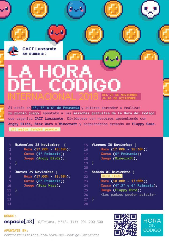 Los CACT se suman a la Hora del Código para potenciar e incentivar la programación y la creatividad entre los más jóvenes