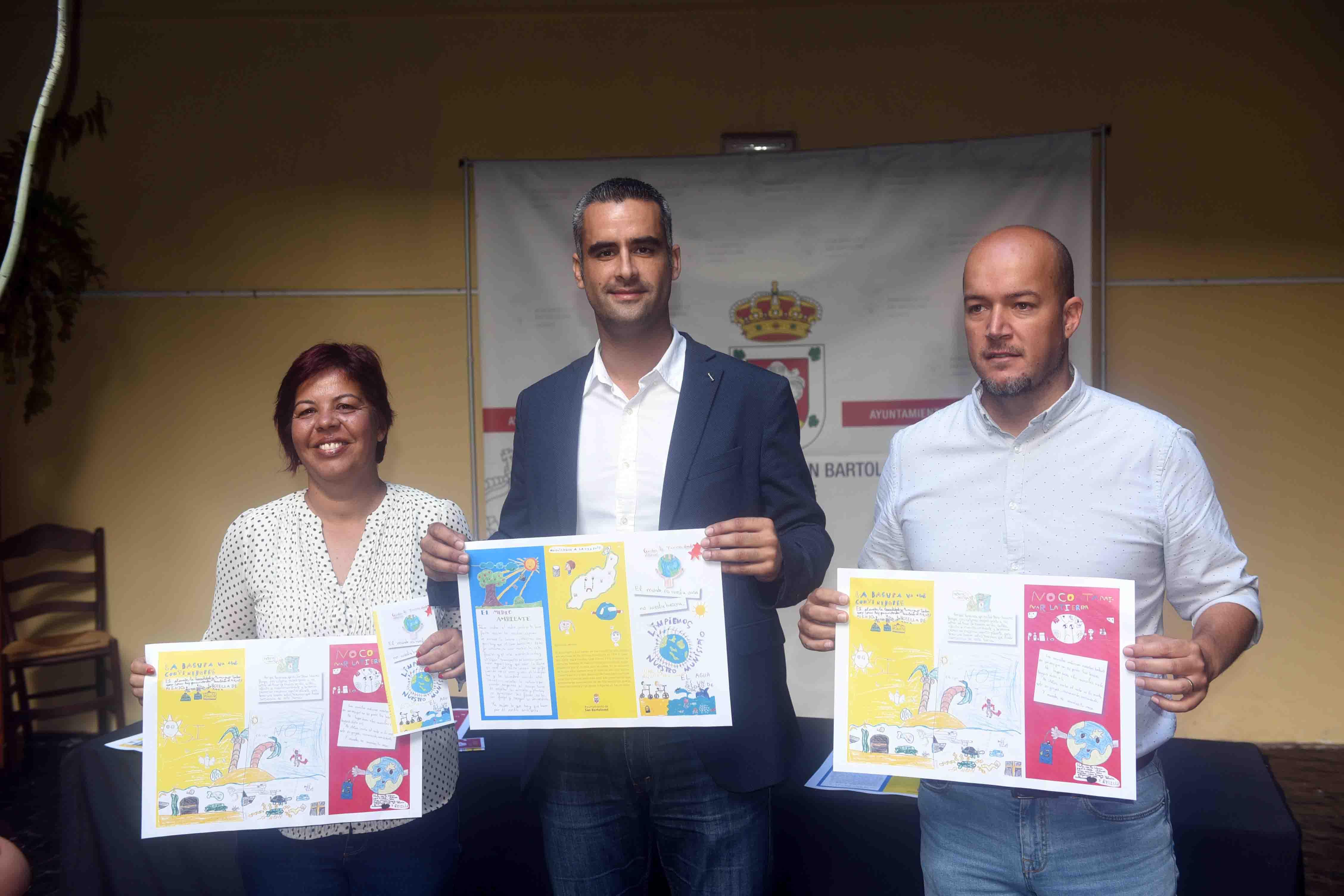 Las niñas y niños de primaria del municipio de San Bartolomé diseñan la campaña medioambiental de su Ayuntamiento