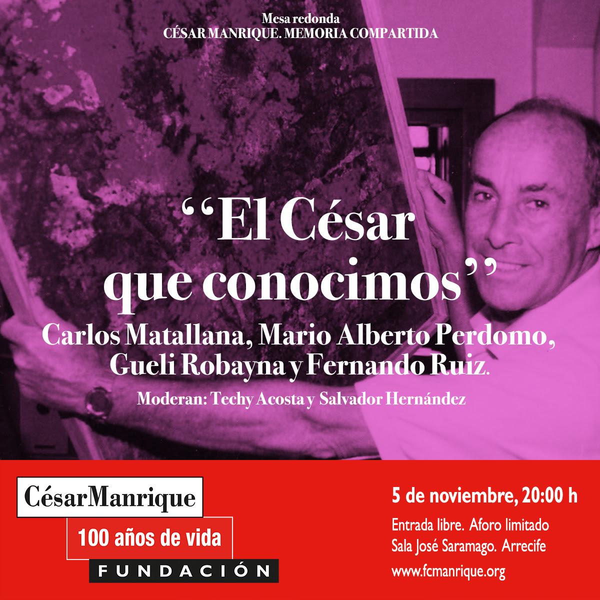 """La FCM acogerá la mesa redonda """"El César que conocimos"""", una aproximación al lado más personal del artista, en el marco de su centenario"""