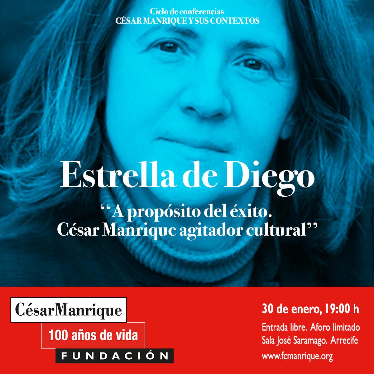 """La FCM acoge la conferencia de Estrella de Diego titulada """"A propósito del éxito. César Manrique agitador cultural"""""""
