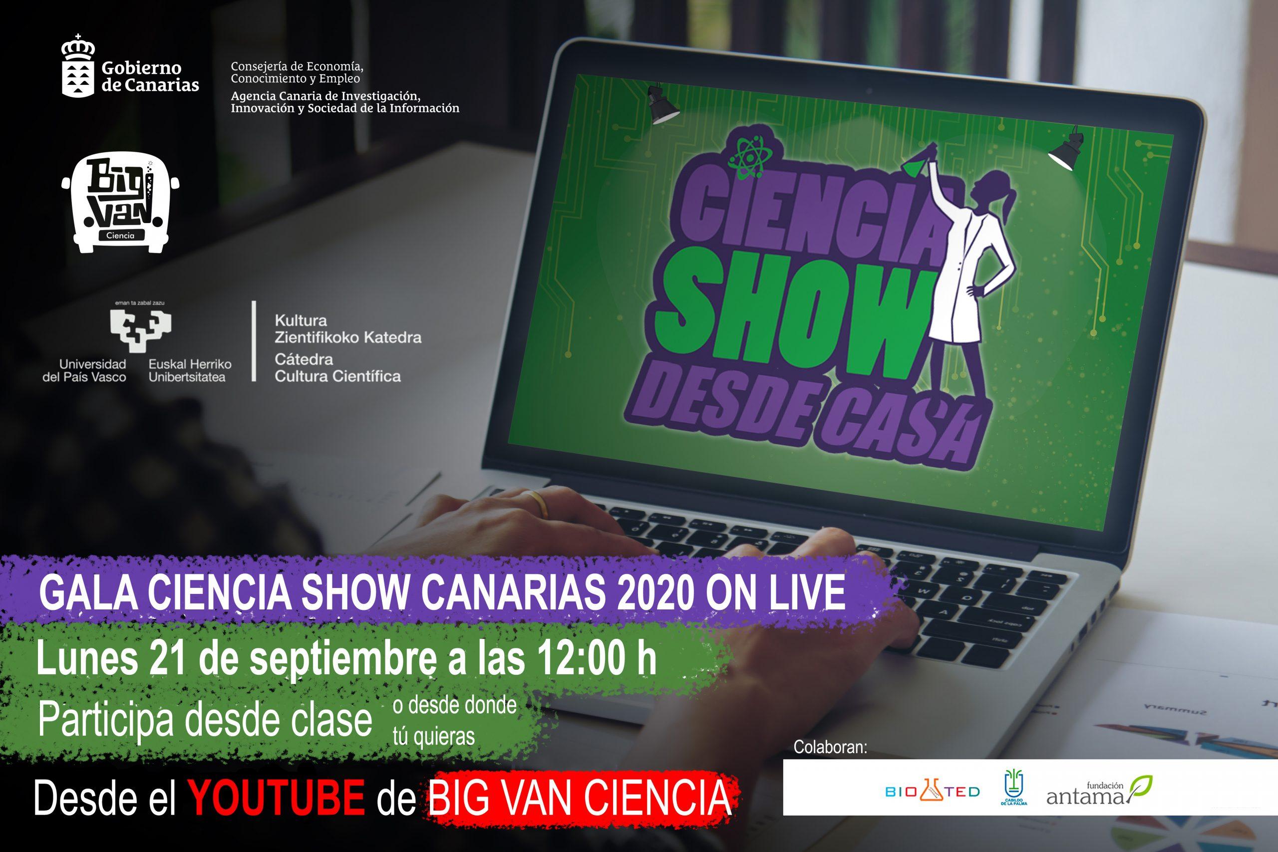 Gala OnLive de Ciencia Show Canarias 2020