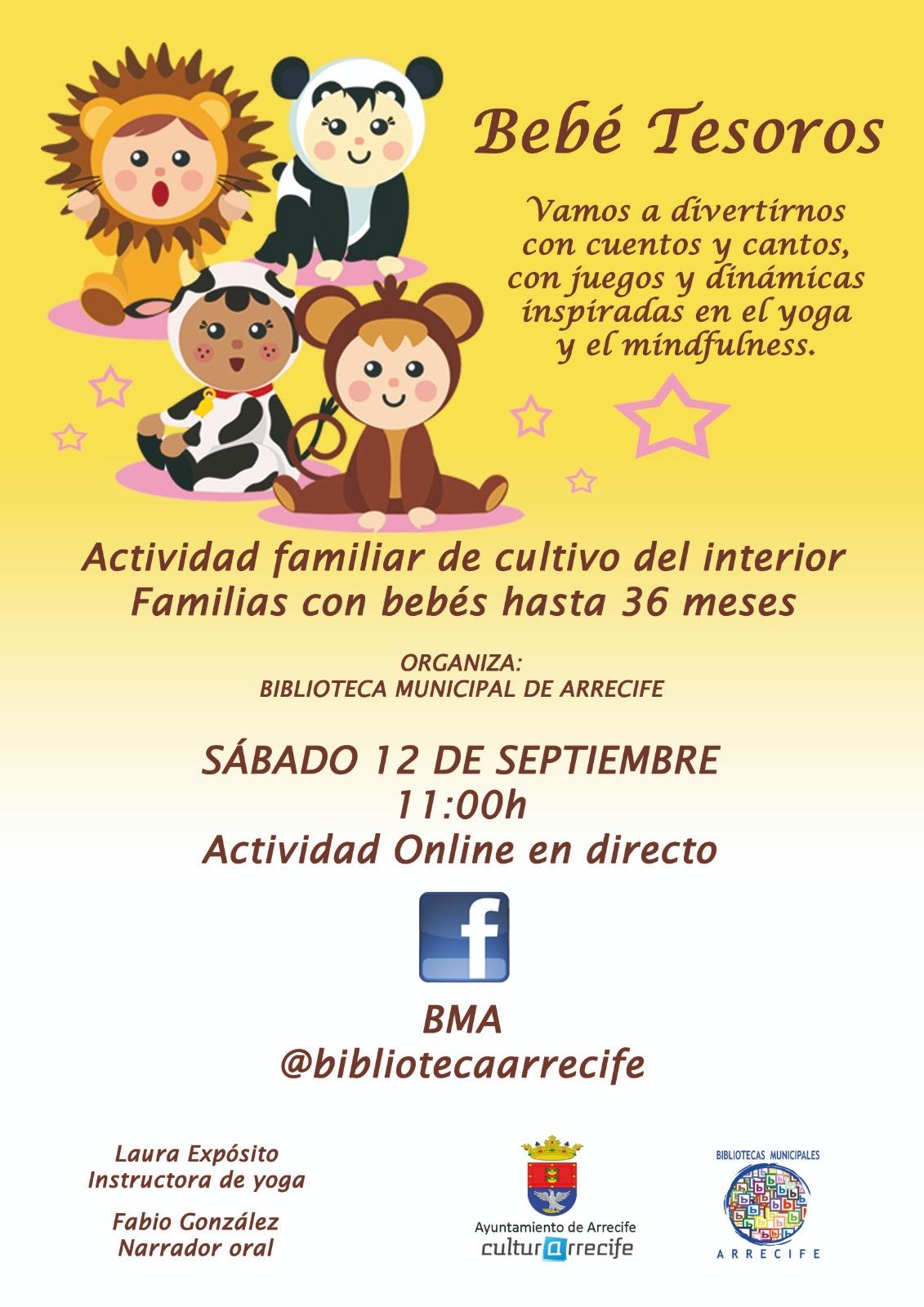 """Actividades familiares Online en directo """"Peque Tesoros"""""""