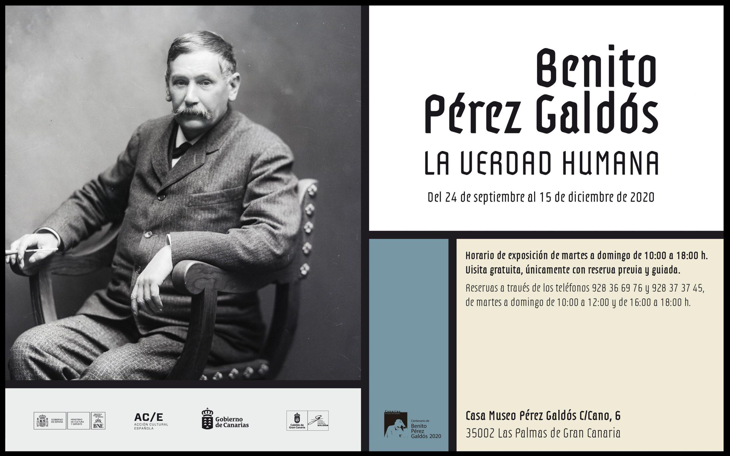 Exposición 'Benito Pérez Galdós. La verdad humana'. 24 sept-15 dic 2020. Casa-Museo Pérez Galdós
