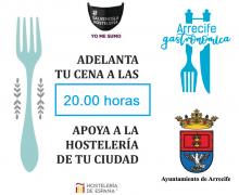 """Arrecife anima a los ciudadanos a """"Adelantar la cena a las 20 horas"""" para la salvar la hostelería de la capital"""