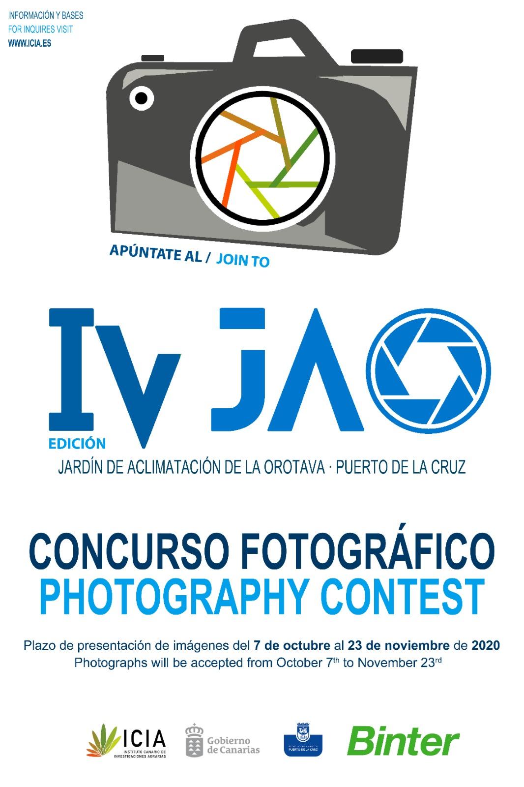 El Gobierno canario convoca el IV Concurso de Fotografía 'Jardín de Aclimatación de La Orotava'