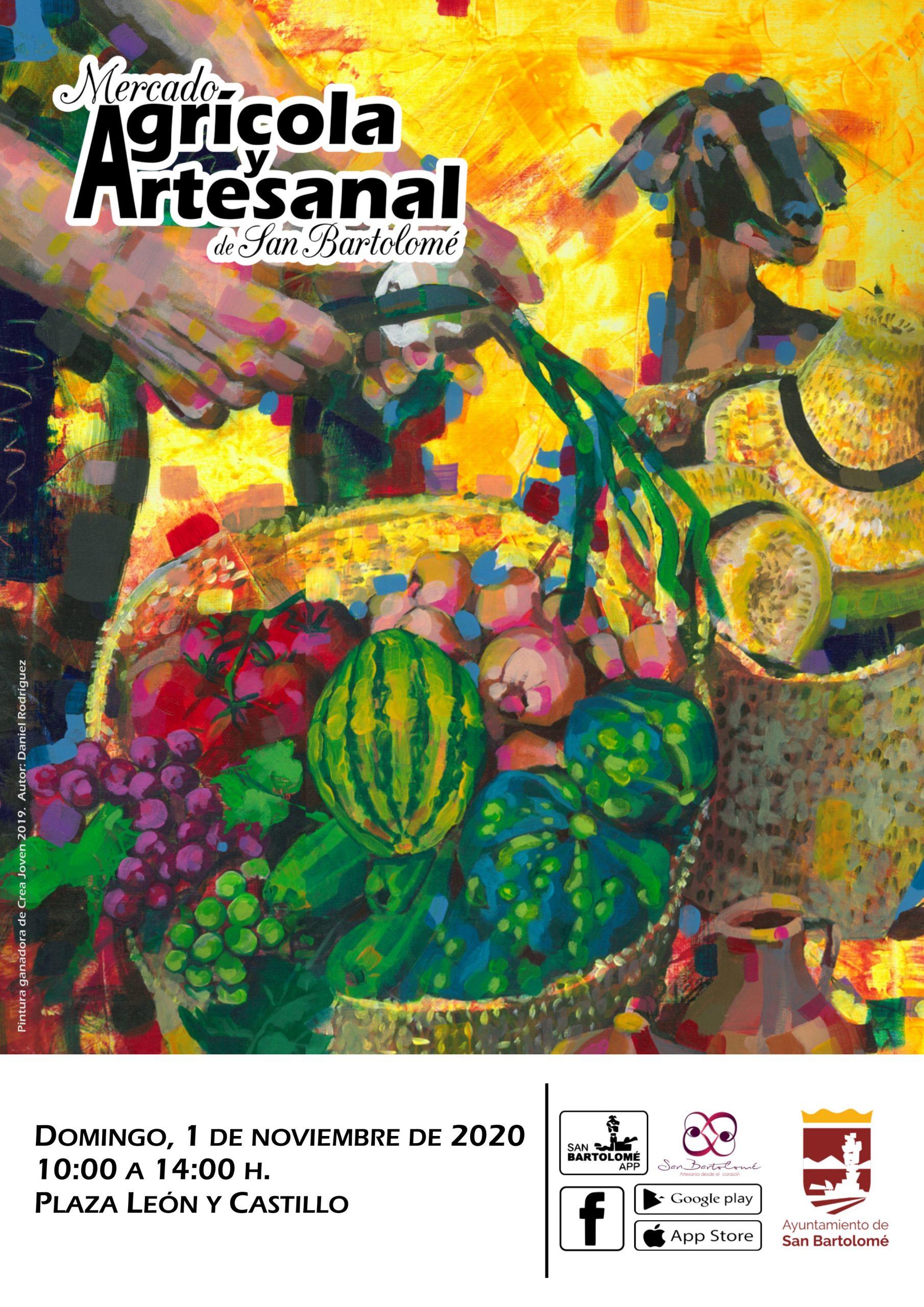 El Mercado Agrícola y Artesanal de San Bartolomé celebrará una nueva jornada el domingo 1 de noviembre
