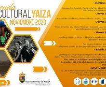 Yaiza anima a participar  de su programa cultural de noviembre
