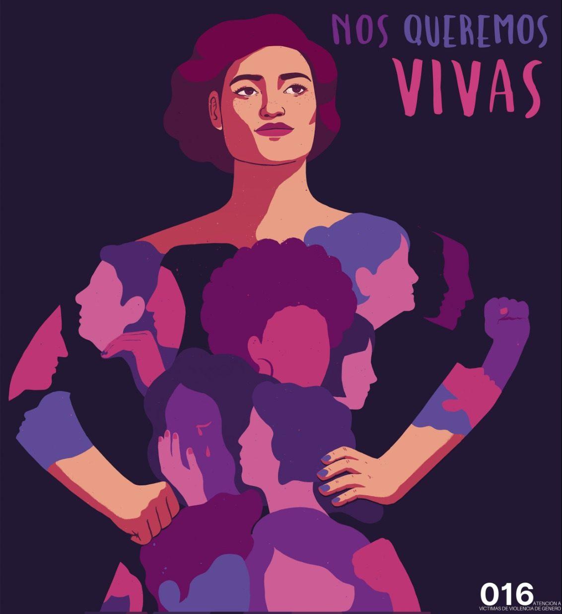 Homenaje a las víctimas de la violencia de género